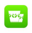 mug icon green vector image vector image