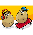 new potatoes cartoon vector image vector image