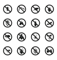 No insect sign icons set simple style vector image vector image