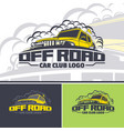 off-road car logo template in three versions two vector image