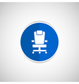 Office chair icon business seat shape vector image vector image