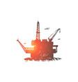 offshore oil mining derrick vector image