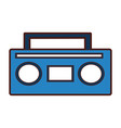 old radio music icon vector image