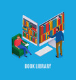 online library isometric vector image vector image