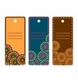ornamental mandala cards vector image vector image