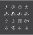 peace icons flat line design set relax good vector image vector image