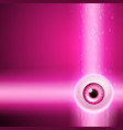 pink background with eye and binary code vector image vector image