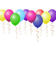 realistic colorful balloons collection varieted vector image vector image
