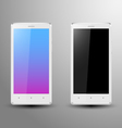 Realistic of a white smartphone vector image