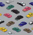 retro cars pattern vector image