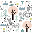 seamless childish pattern with fairy unicorn vector image vector image