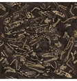 seamless dinosaur bones pattern vector image vector image