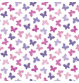 seamless hipster background butterflies purple vector image vector image