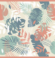 seamless tropical leaves pattern vector image