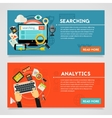 Searching and Analytics Concept vector image