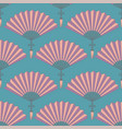 semless pattern of orientl chinese hand fan vector image