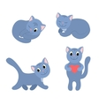Set of happy cats 3 vector image