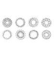set of vintage sunburst light rays design vector image vector image