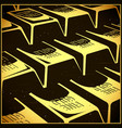 shining gold bars in retro style vector image