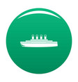 ship retro icon green vector image