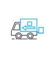 shipment of goods thin line stroke icon vector image