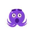 Shocked Funny Octopus Emoji vector image vector image