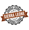 sierra leone round ribbon seal vector image vector image