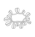 sketch of serpentine frame with curls vector image