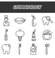 Stomatology icons set vector image