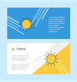 sun abstract corporate business banner template vector image