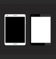 tablet mockups with blank screens vector image vector image
