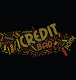 the ins and outs of bad credit home loans text vector image vector image
