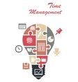 Time management infographics concept vector image vector image
