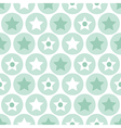 Turquoise seamless pattern on white background vector image vector image