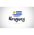 uruguay country flag concept with grunge design vector image
