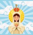 virgin mary icon vector image vector image