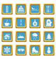 winter icons azure vector image vector image