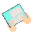write tablet icon isometric 3d style vector image vector image
