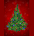 christmas tree with background vector image
