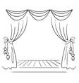 Theater stage sketch vector image