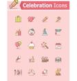 Celebration icon set vector image