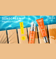 advertising for sunscreen cream and spray vector image