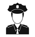 airport police officer icon simple style