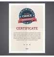 Best choice certificate template vector image vector image