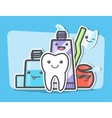 Best friends of healthy teeth vector image