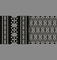 black and white ethnic geometric seamless patterns vector image vector image