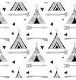 black wigwam pattern vector image vector image