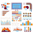blue orange info graphics vector image vector image