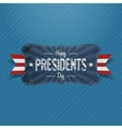 Blue striped Banner with Happy Presidents Day Text vector image vector image