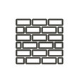 brick wall icon line old wall symbol vector image